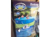 12 foot best way swimming pool set up used once