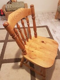 6 pine chairs for sale