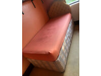 Free single divan bed base with drawers + headboard