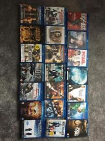 Various blu ray discs for sale £2.50 each