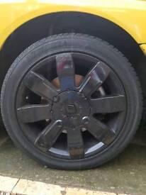 Set of 182 sport alloy wheels in black