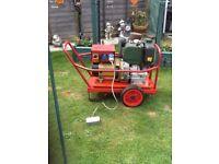 LISTER-PETTER diesel 5KVA Generator 240v+110v handle start electric lead runs great cb5 £320