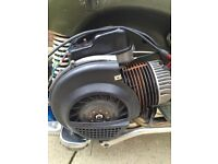 Vespa px 125 engine with 166 kit