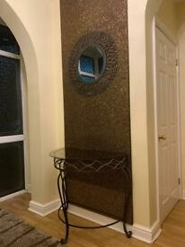 Console table mirror and backboard