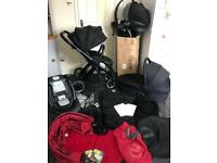 babystyle oyster pram pushchair travel system 3in1 be safe car seat isofix base buggy