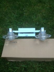 Chrome Wall Light Fitting with Bulbs - NEW, Boxed and Unused
