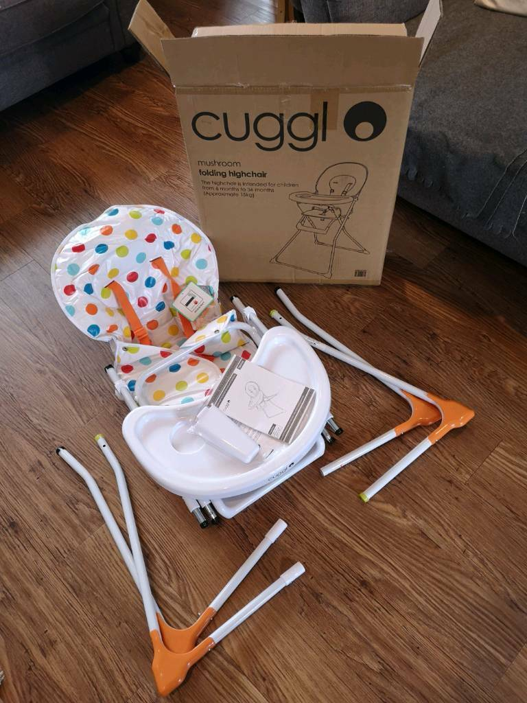 Brand New Cuggl Mushroom Folding Highchair In Coventry