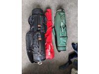 Assortment of 3 x Golf bags and club headcovers/socks