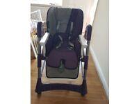 Purple highchair