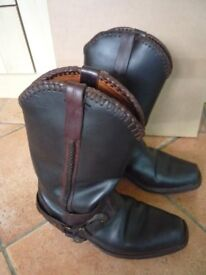 Loblan leather Western Cowboy Boots