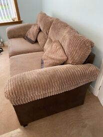 Two large 3 seater sofas