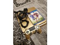 Special Edition PS4 Slim Gold Playstation 4 Slim Gold excellent condition with Gold V2 Controller