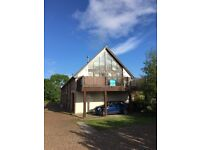Beautiful Semi -detached house for sale in Dornoch with sea and country views, walk in condition.