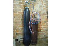 Oxy Acetylene Gas welding equipment with torch,hose, flashback arrestors & boc regulators