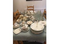 Lots of Vintage China , Glass and Cutlery, ideal for weddings /coffee shops etc