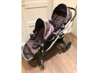 Baby Jogger City Select Single/Double buggy incl carrycot, car seat adapters and buggy board