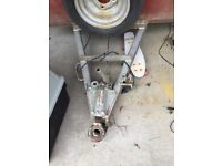Car trailer - requires some repairs - pin hitch