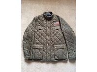 Barbour Steve McQueen Limited Edition Jeffries quilted jacket in Olive, size XL