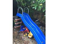 TP blue wavy slide