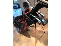 Taylormade Aeroburner irons + Nike bag and R11 Driver