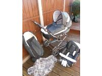 Babystyle lux 2 in 1 pram/pushchair, Excellent condition! Some items never used.