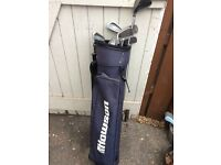 Half set golf clubs plus bag
