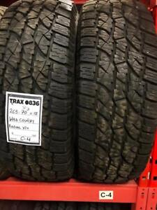 TRAX 0836 2-265/70R18 2657018 265 70 18 WILD COUNTRY RADIAL XTX 75% TREAD $150 pair