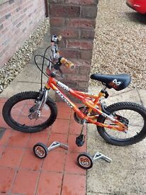 "Childrens 10"" bike with stabilisers"
