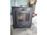 Aarow Ecoburn 5 inset woodburning stove. Fits in standard British size fireplace., used for sale  Brora, Highland