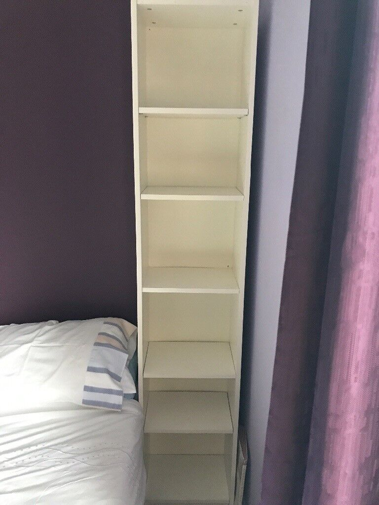 IKEA white wood bookshelf