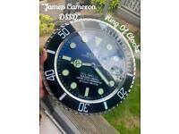 Rolex wall clock - Deep Sea Sea Dweller - free U.K. p&p
