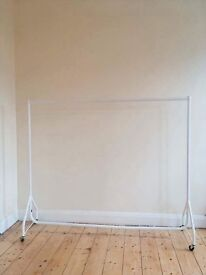 Large white clothes rail for sale SE15