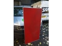 Red padded metal table desk top excellent central London bargain
