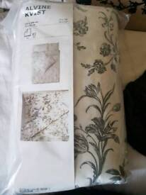Brand new Ikea Alvine Kvist double duvet cover & pillow cases