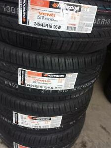 BRAND NEW WITH LABELS ULTRA HIGH PERFORMANCE  ' W ' RATED HANKOOK ALLSEASON 245 / 45 / 18 SET OF  FOUR.