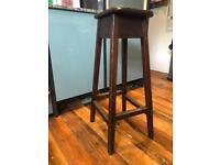 Wooden work stool