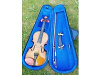 Stentor 1/2 size Violin, Carry Case & Bow Rosin