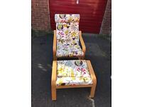 **Like New** Ikea Poang Chair and Footstool