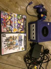 Nintendo GameCube indigo/purple console plus Mario party 4 and final fantasy VGC