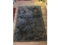 Heart of house charcoal grey shimmer rug