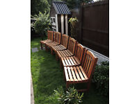 LARGE EXTENDABLE TABLE AND 6 CHAIRS*** TEAK WOOD