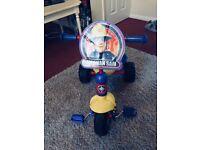 Kids FIREMAN SAM Trike, excellent condition