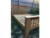 Solid Oak King Size Bed Frame, Excellent condition