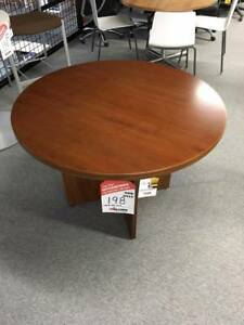 "*****PRICE REDUCED!!! $360.00 OFF***** NEW Office 42"" Round Wood Veneer Table"