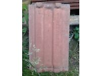 Marley red roof tiles