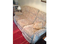 3 piece reclining sofa and reclining chair