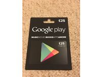 Google Play gift voucher value £25
