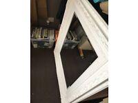 White wooden VINTAGE mirror