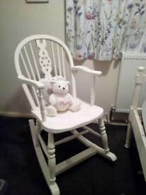 Antique shabby chic rocking chair bear chair