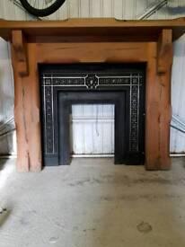 Pinewood fireplace surround